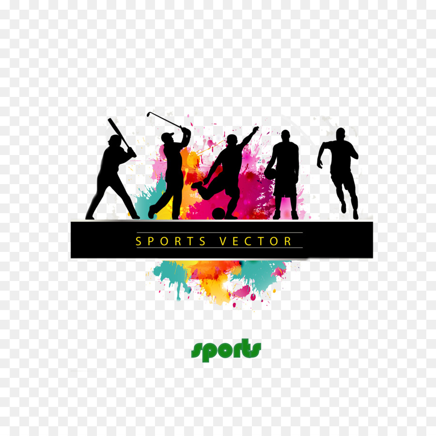 Dynamic Sports Figures Silhouette