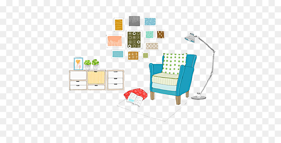 Graphic Design Couch Sofa And Floor Lamp Png Download 600 442