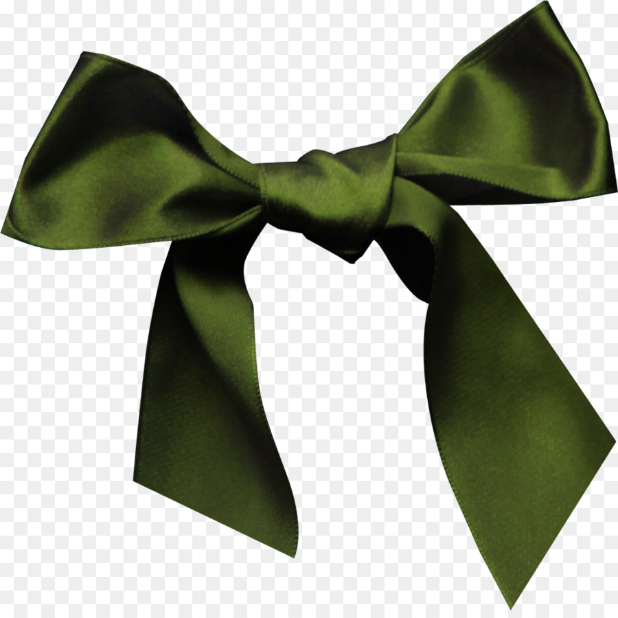 Silk Ribbon Green Bow Tie Dark