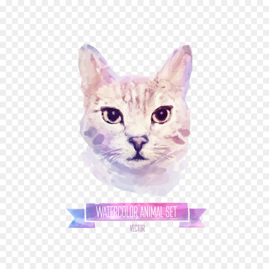 78f35a3b1 Cat, Kitten, Watercolor Painting, Pink, Domestic Short Haired Cat PNG
