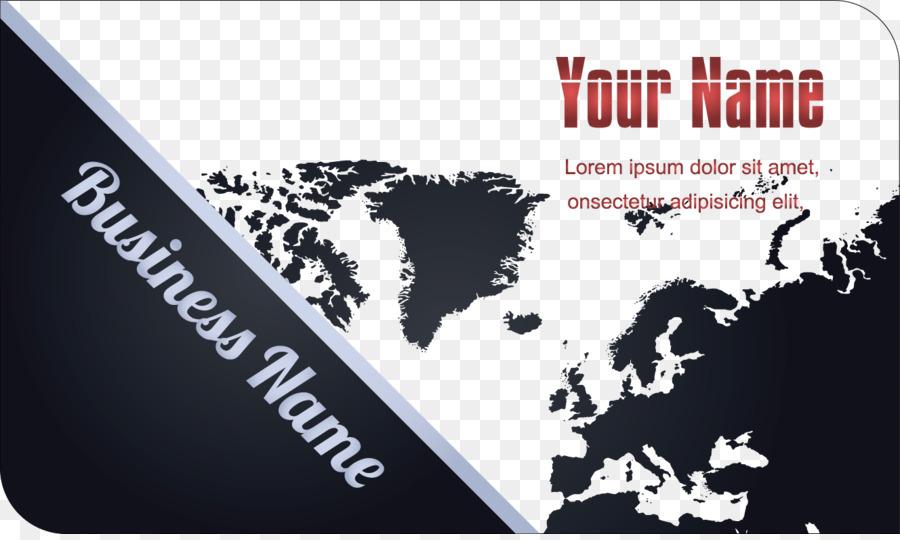 earth globe world map vector map creative business card template