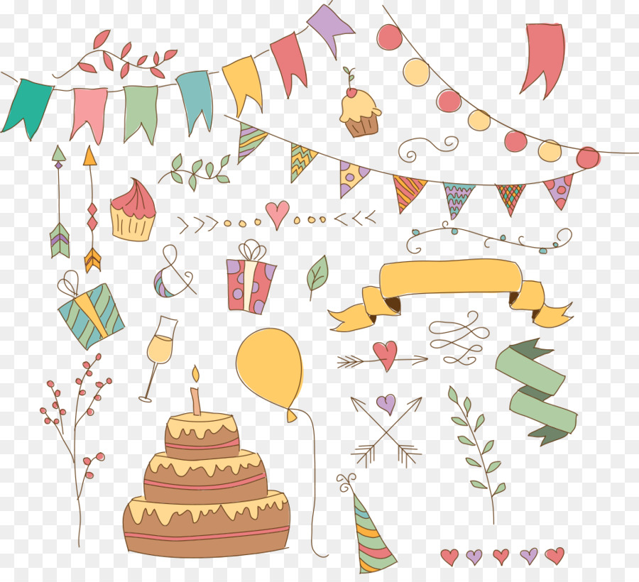 Vector Cartoon Pull The Flag With Cake Png Download 1000 899