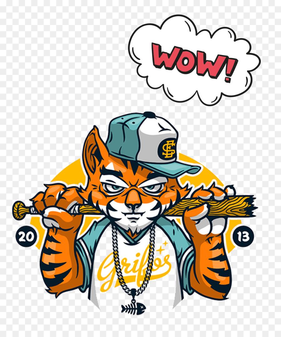 Cartoon Zeichnung Graffiti Hip Hop Cat Png Herunterladen 1576