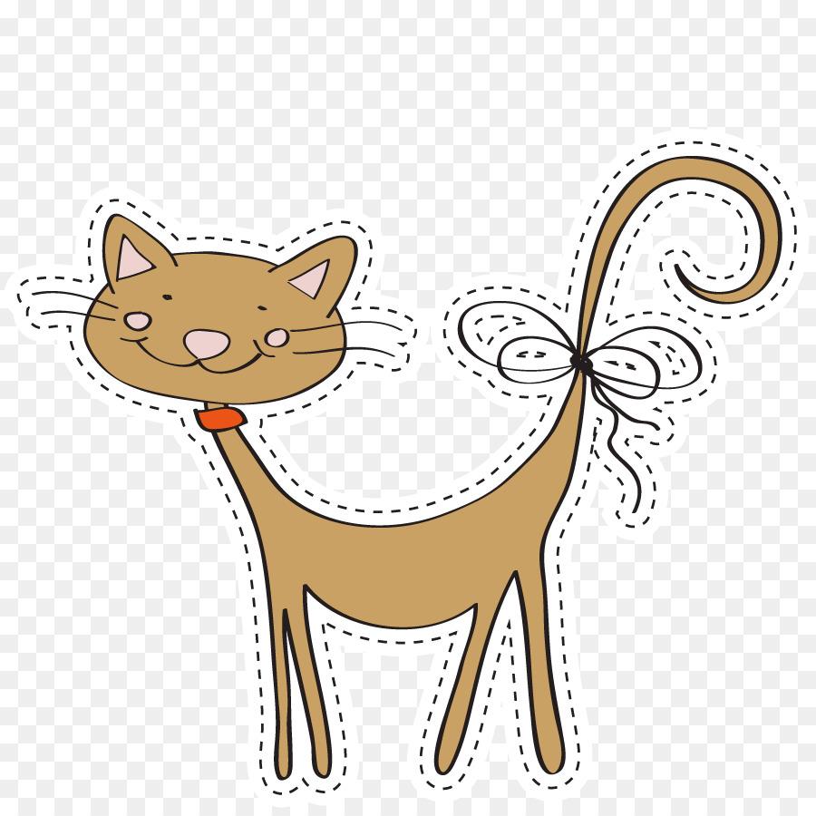 Cat Greeting Card Birthday Cartoon Vector Pet Cat Png Download
