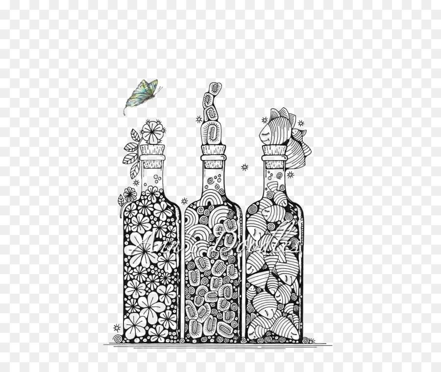 bottle drawing doodle art cartoon bottle png download 552 754