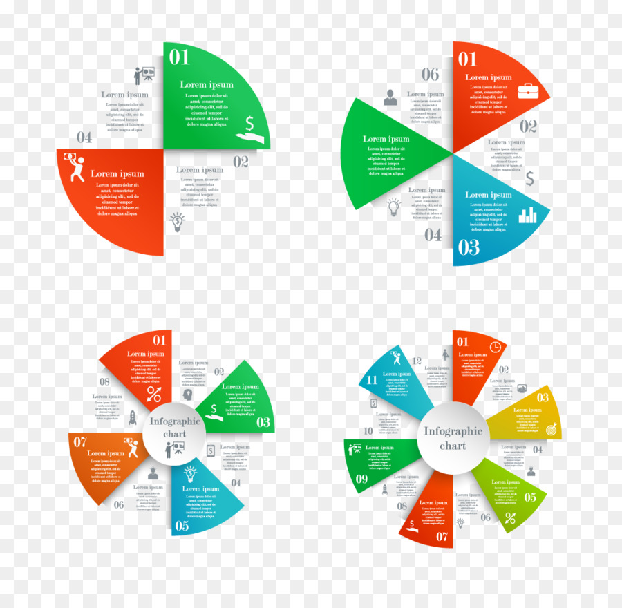 Infographic Circle Pie Chart Vector Business Pie Chart Png
