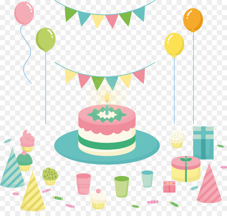 Birthday cake Greeting card Happy Birthday to You Wish Vector cake