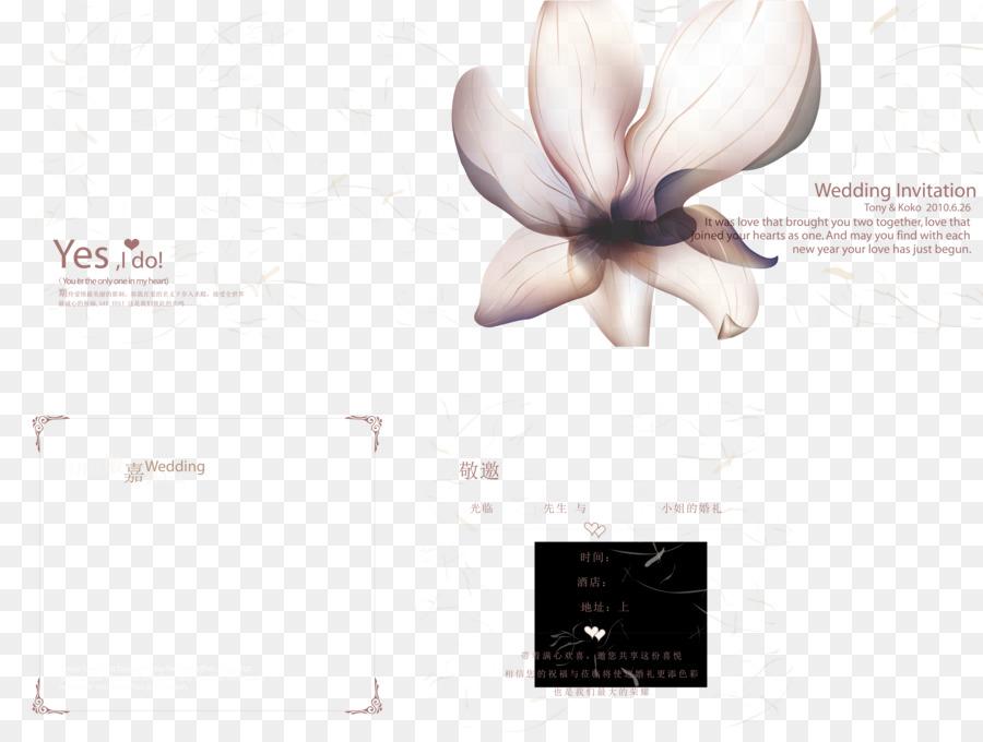 Grafik Design Hochzeits Einladung Business Blumen Hochzeits
