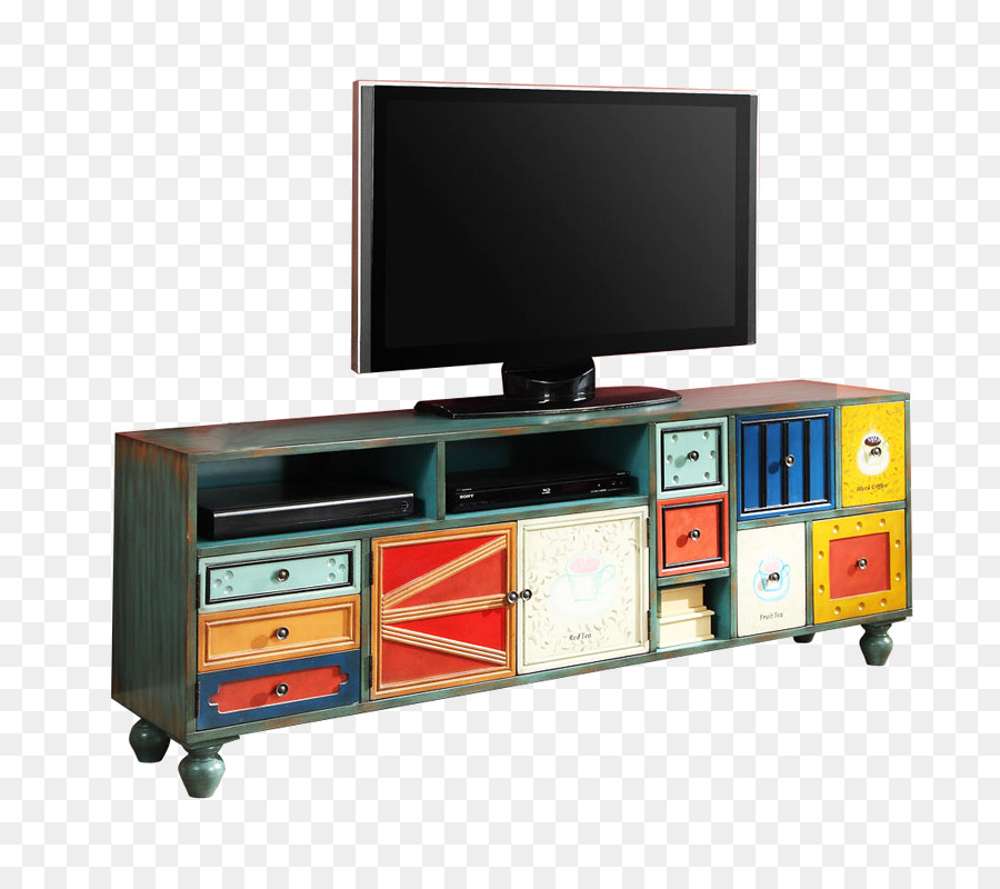 La Televisión Gabinetes - De colores de madera mueble de TELEVISIÓN ...