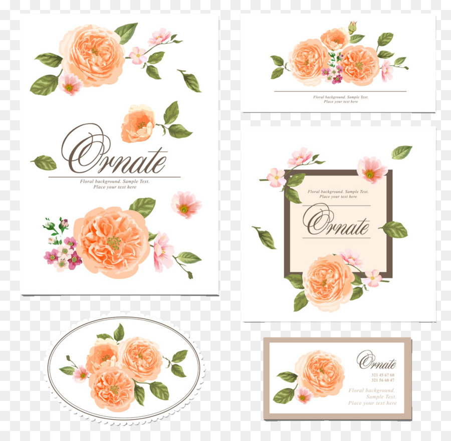 Wedding invitation Flower Floral design - Wedding pattern png ...