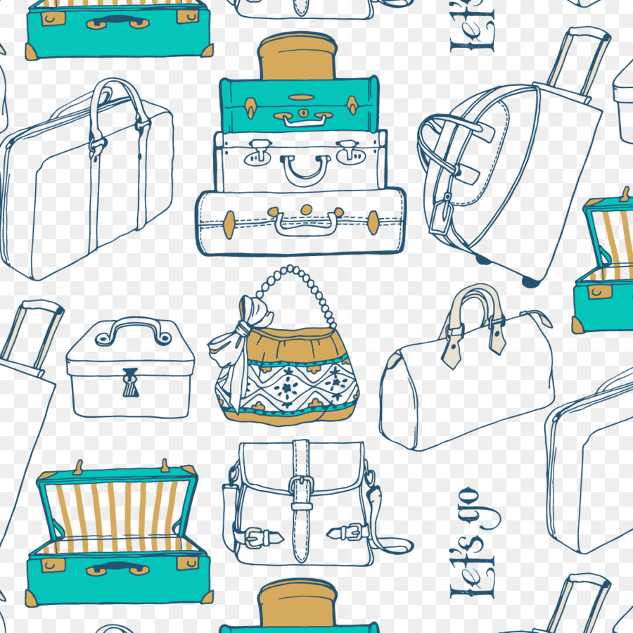 travel suitcase bag vector bag background 1100 1100 transprent png