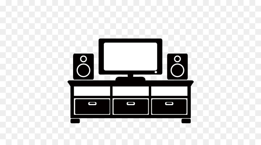Living Room Furniture Couch Icon   · TV And Stereo Cabinet