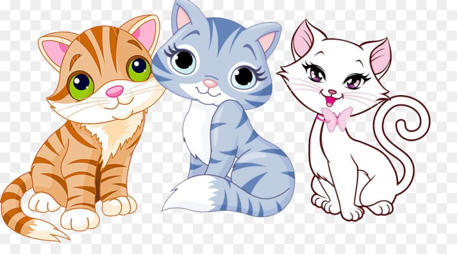 Puppy Kitten Dog Cat Clip art - Cute cat