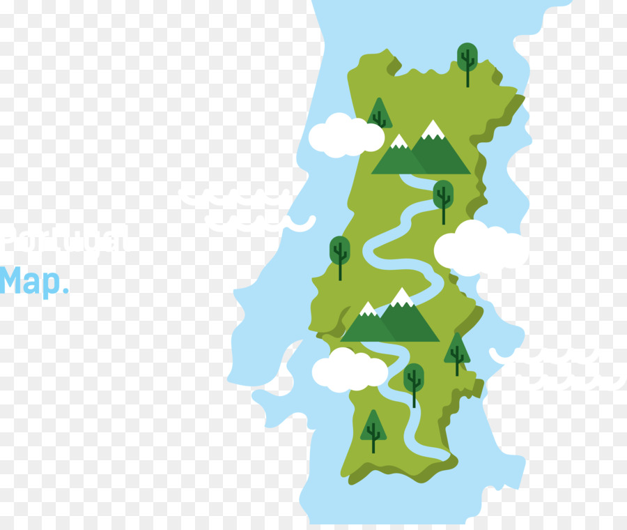 Portugal Vector Map World map - Blue map png download - 4886*4083 ...