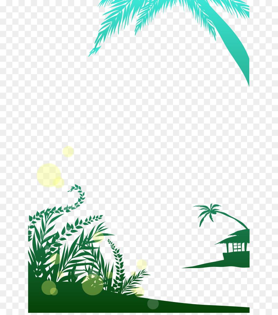 Coconut Green Arecaceae Drawing Tree