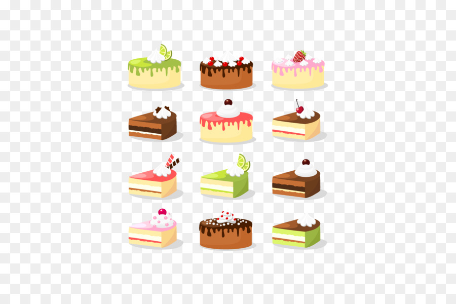 Ice cream Cupcake Birthday cake Chocolate cake Vector cake png