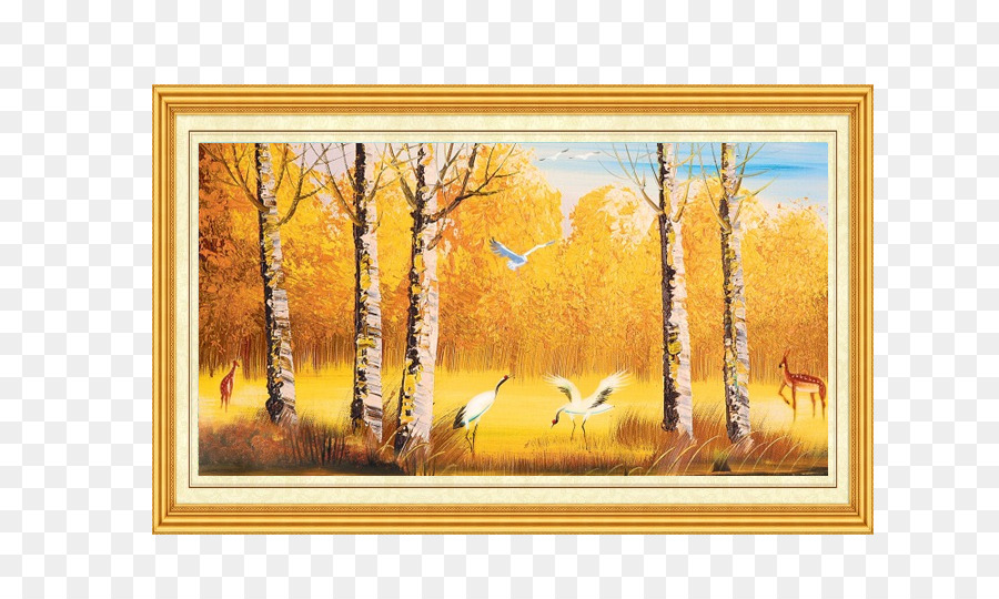 Mural Wall Painting Oil paint Wallpaper - Golden oil painting ...