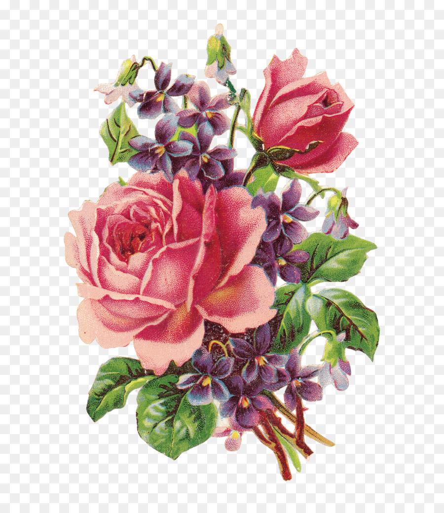 Paper Flower Rose Vintage Clothing Clip Art Creative Valentines