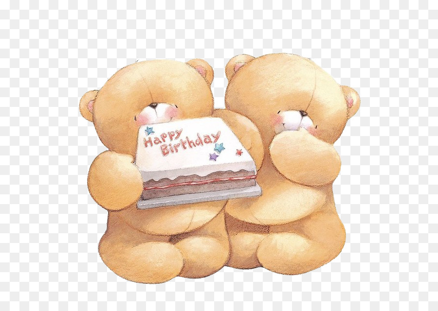 Bear Forever Friends Birthday Greeting Card Clip Art Two Bears Png