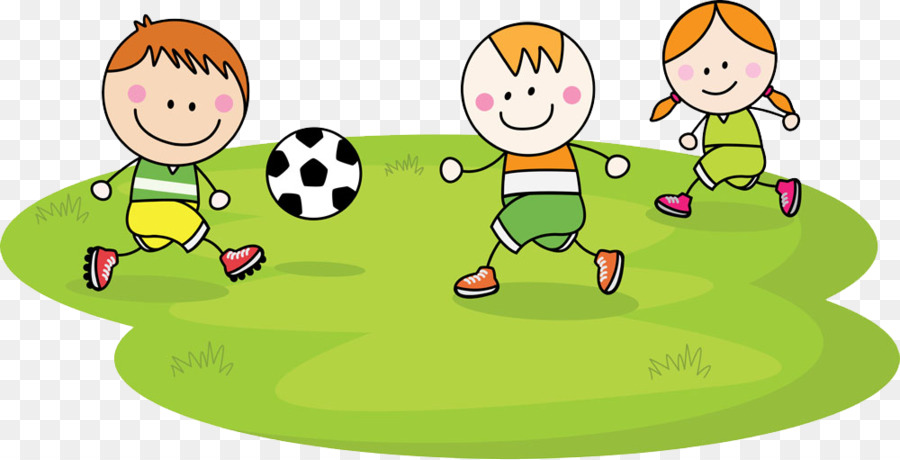 child football cartoon children play png download 1000 510