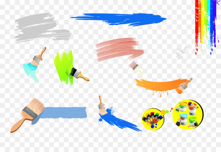 Painting Cartoon Drawing Cartoon Painting Tools Vector Material