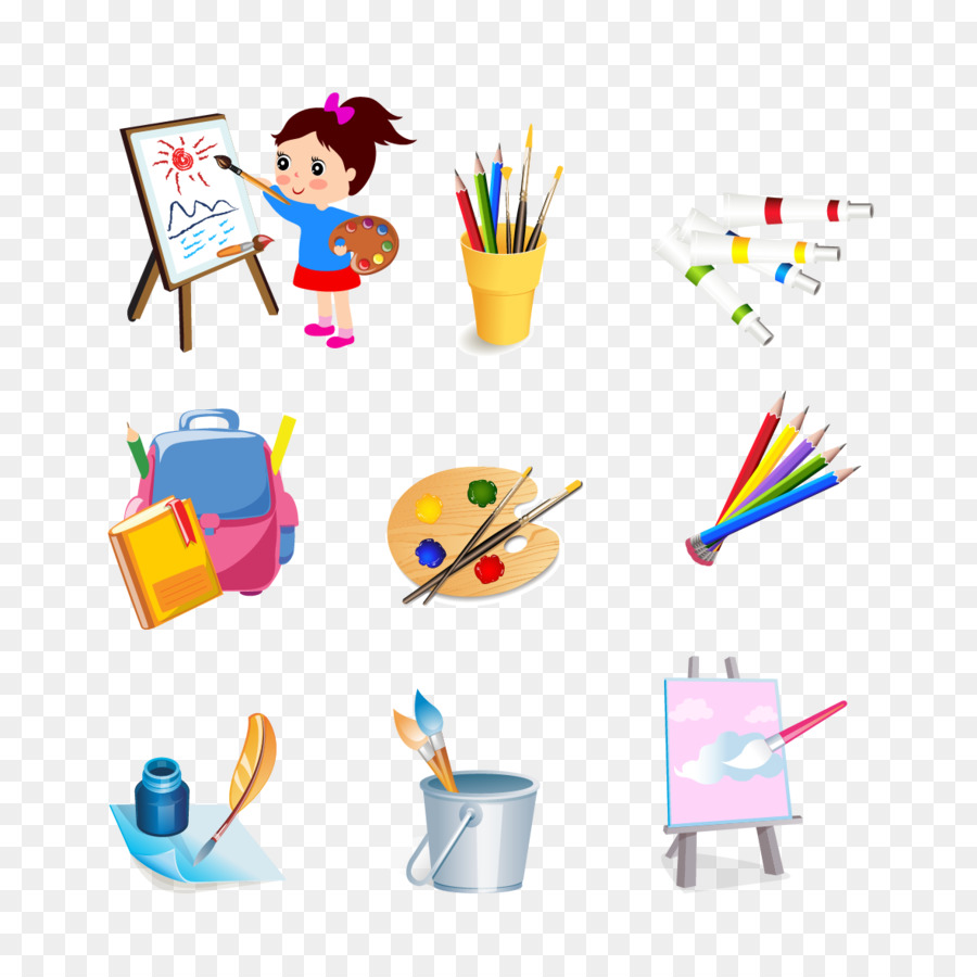 drawing tools. Drawing Painting Clip Art - Vector Material And Tools