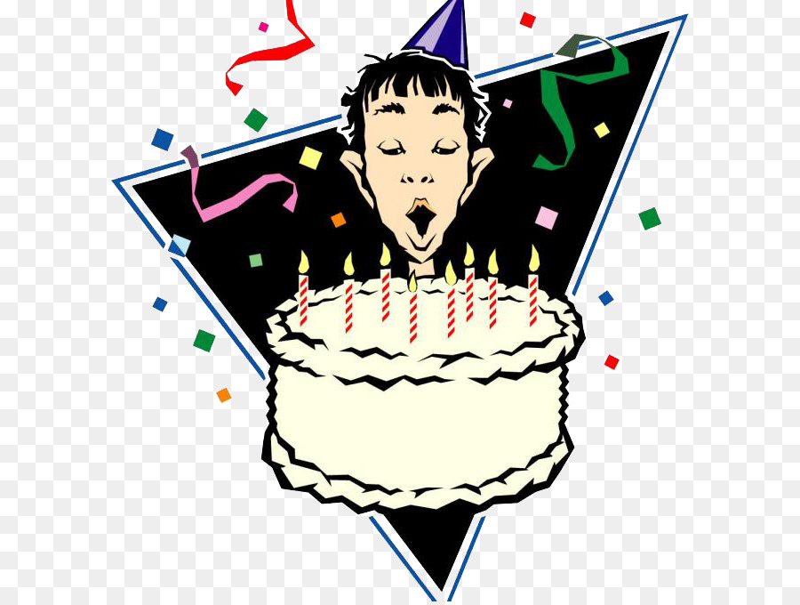 Birthday Cake Happy Birthday To You Party Clip Art Blowing