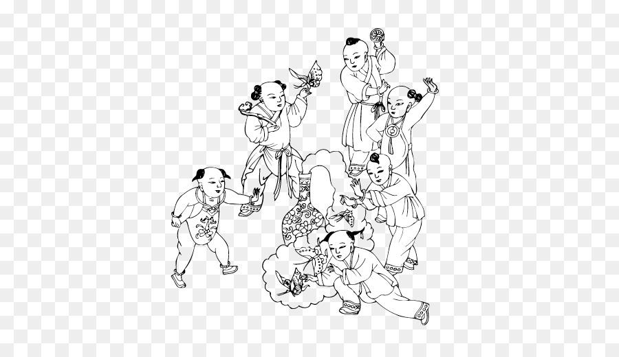 Seni Sketsa Anak Anak Vektor Unduh Seni Titik Monokrom