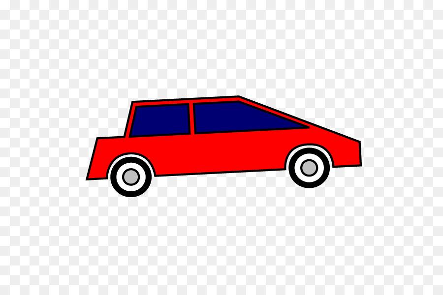 Auto compacto color Rojo de dibujos animados - coche Formatos De ...