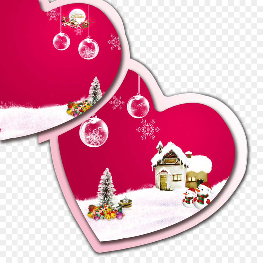 Christmas card Romance Greeting card - Romantic winter png download ...