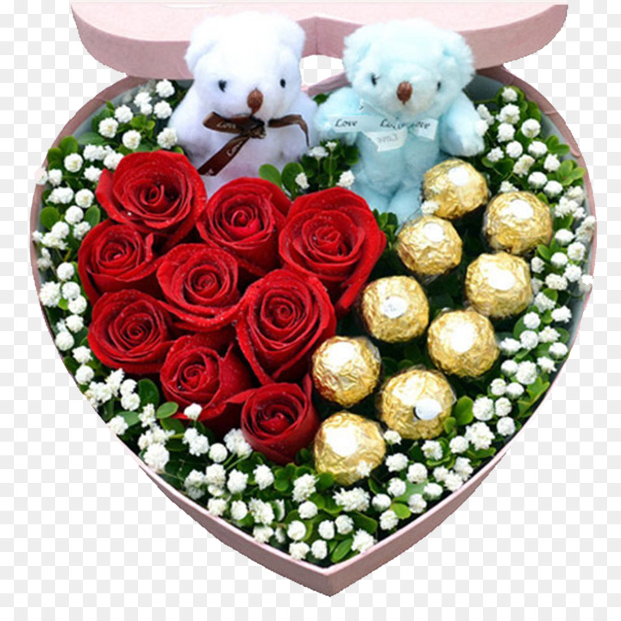 Flower delivery Rose Chocolate Flower bouquet - Rose Chocolate Bear ...