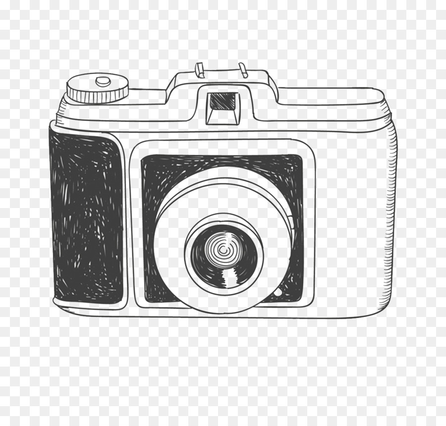 Camera Drawing Photography Hand Drawn Camera Png Download 1280