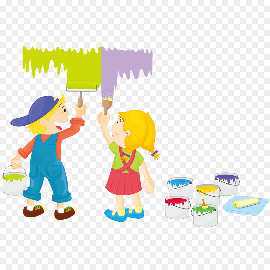 Painting Child Illustration - Painted children png download - 1500 ...