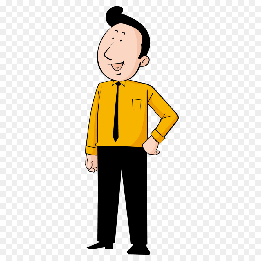 Cartoon Illustration - Happy man png download - 1500*1500 ...