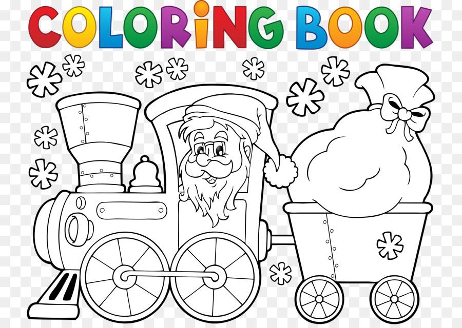 Tren de Santa Claus libro para Colorear de Navidad - Santa Claus ...