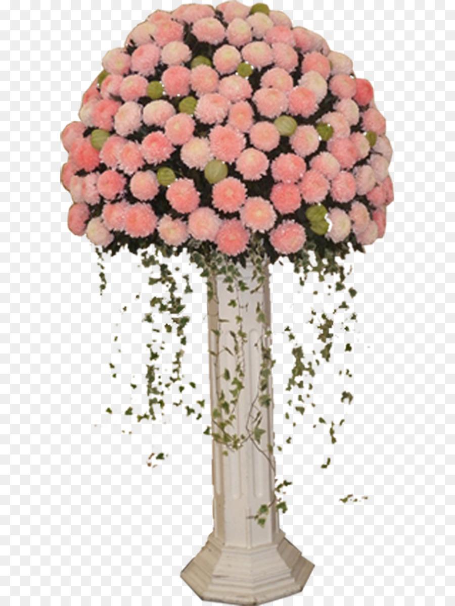 Garden Roses Nosegay Pink Flower Bouquet Round Wedding Bouquet Of