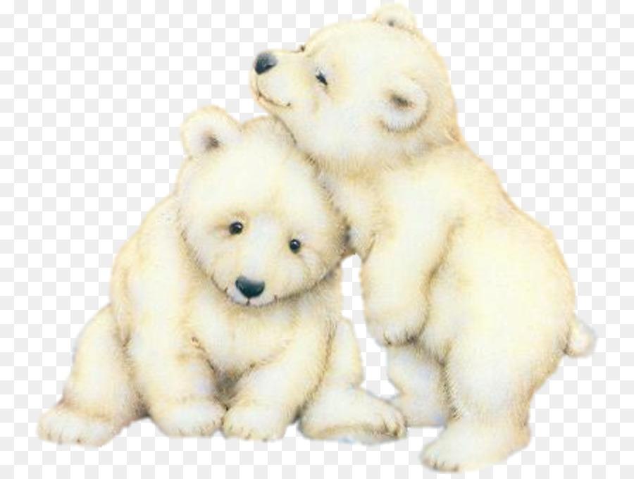 Oso Polar Cachorros de panda Gigante de oso pardo - Pintado a mano ...