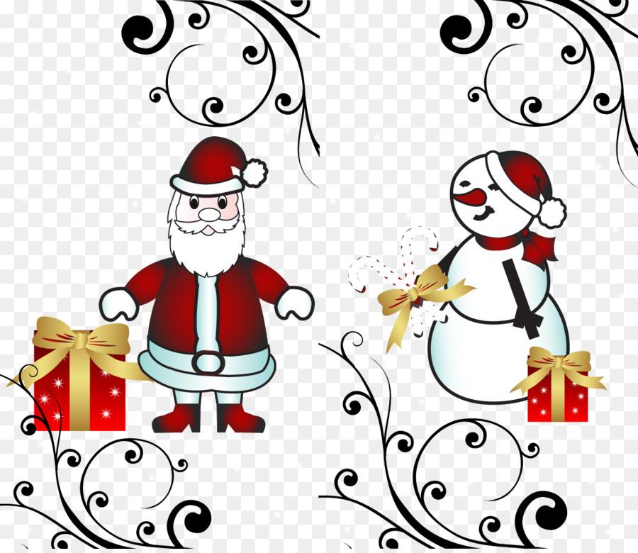 Santa Claus Weihnachtsbaum Weihnachtsschmuck Clip Art - Vektor ...