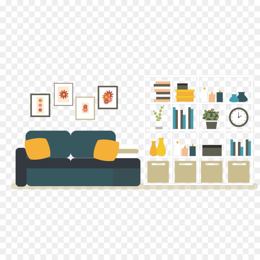 Interior Design Services Cartoon - Vector living room sofa png ...