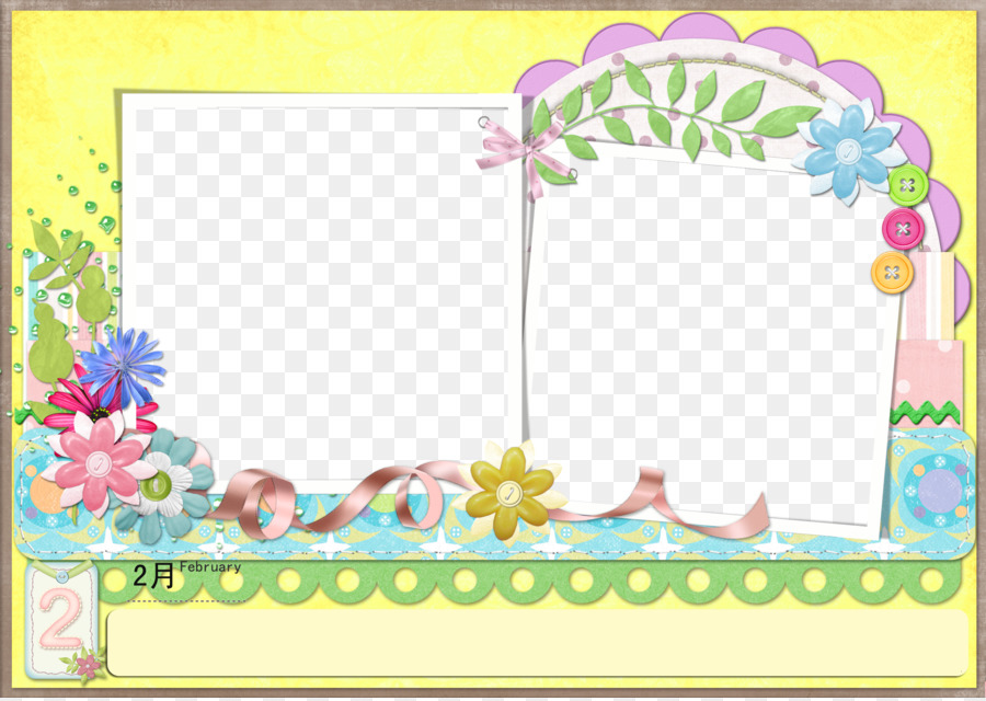 Template Picture frame Pattern - Children\'s album template elements ...