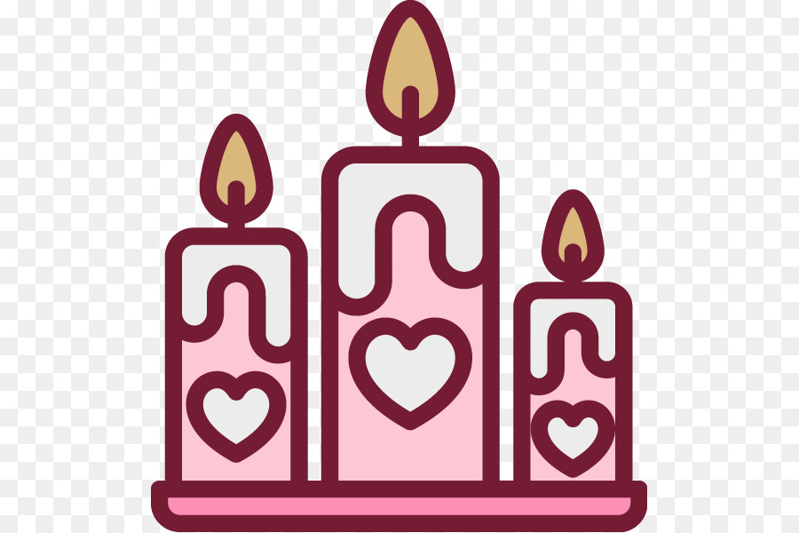 Birthday Cake Scalable Vector Graphics Icon Painted Pink Heart