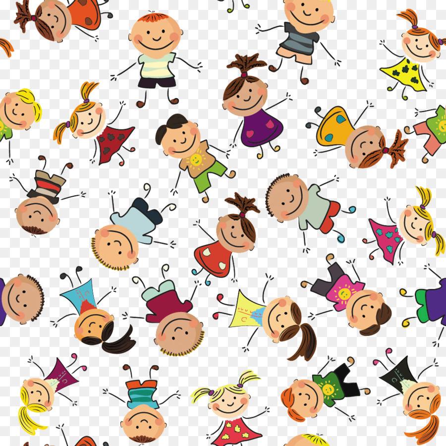Anak Anak Menggambar Pola Anak Anak Bergandengan Tangan Genteng