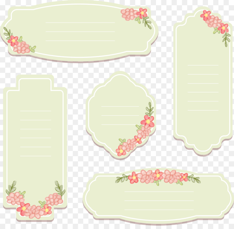 tag template hand painted vintage decorative labels png download