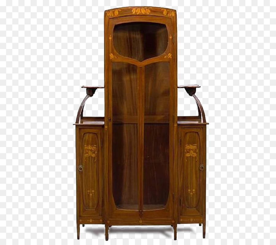 Art Nouveau Display Case Furniture Marquetry Art Deco   Chinese Vintage Wood  Display Cabinet