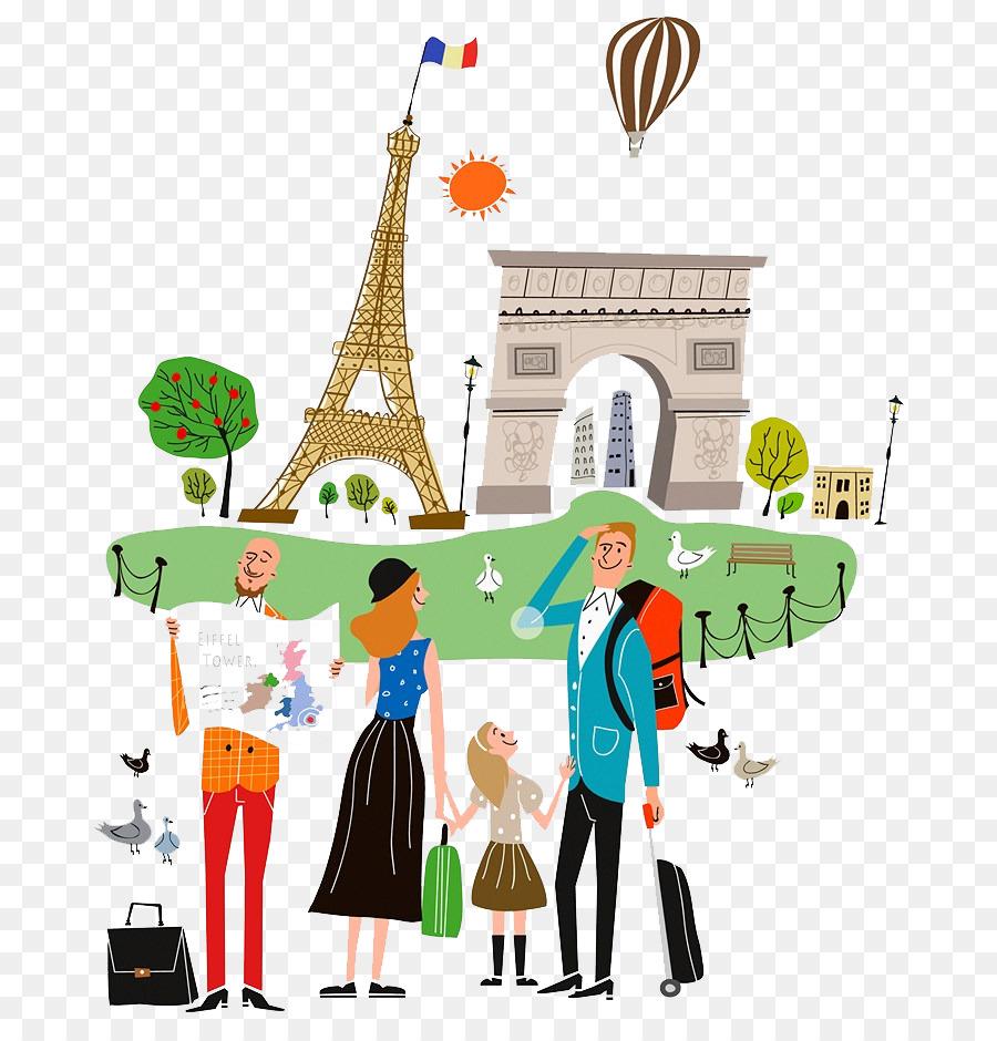 travel drawing tourism illustration city tour png download 756