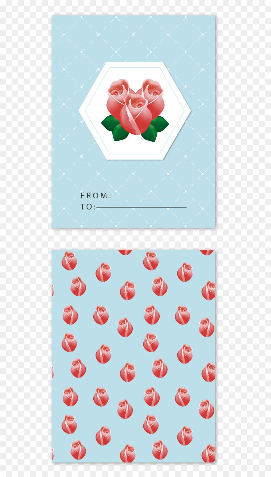 Euclídea del vector de rosa Beach tarjeta de Felicitación ...