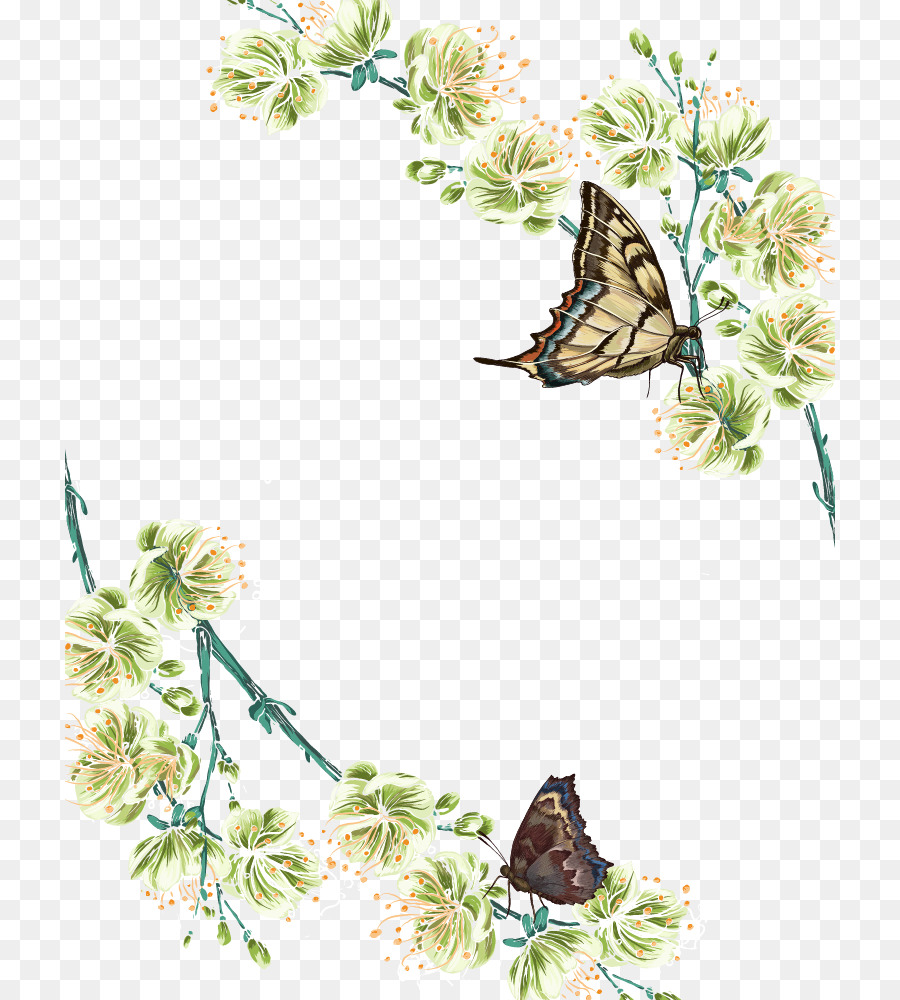 Butterfly Flower Adobe Illustrator Spring Flowers Butterfly Png