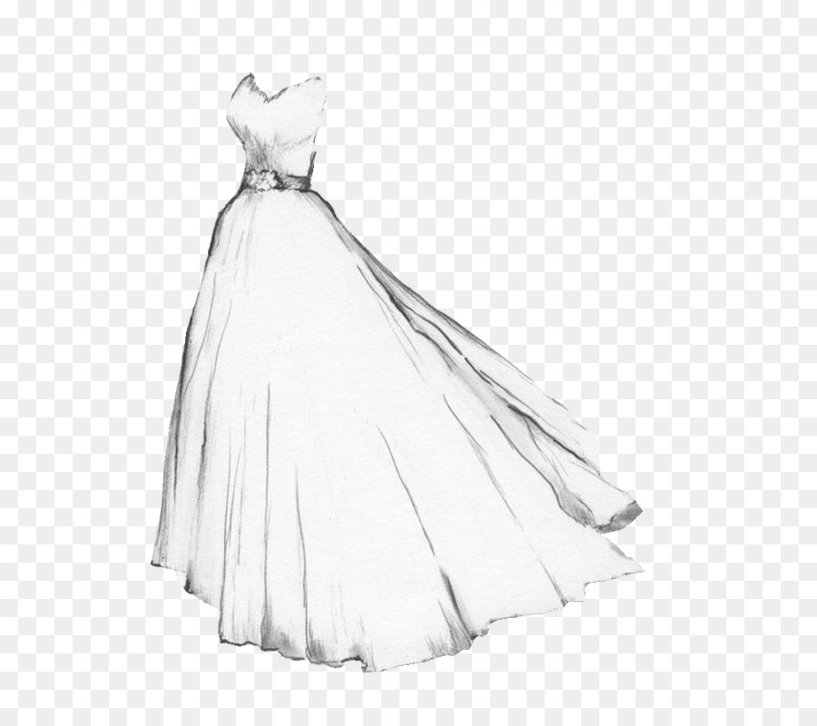 Drawing Wedding dress Gown Sketch - white wedding png download - 650 ...