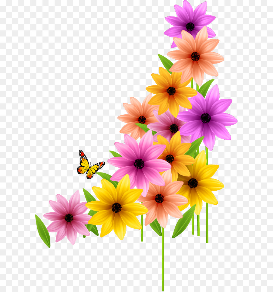 Flower spring clip art wedding color flowers png download 667 flower spring clip art wedding color flowers mightylinksfo