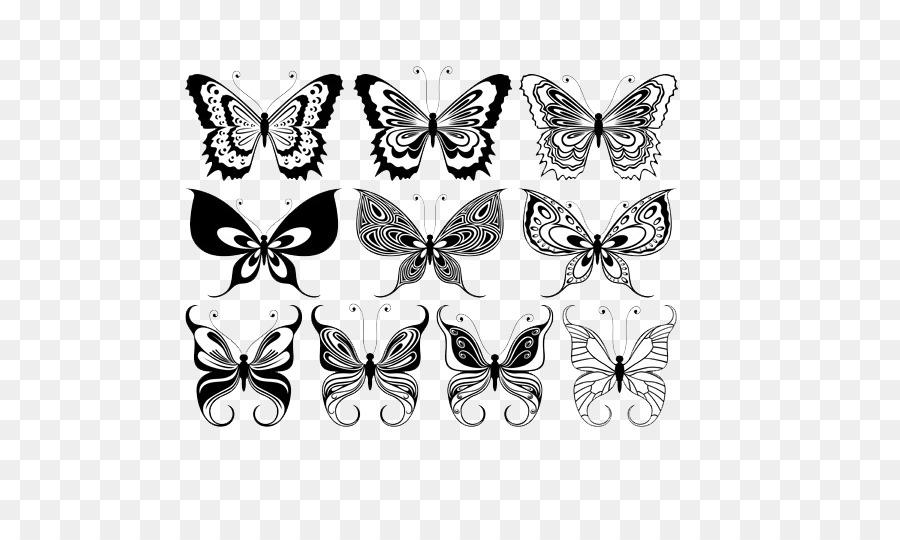 Schmetterling-Schablone Ornament Illustration - Schmetterling Design ...